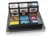 Galerie d'images de la tablette. tablet pc feuilles avec images — Photo