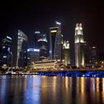 ������, ������: Singapore business district cityscape