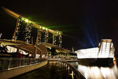 Marina Bay Sands by Night — Stock Photo