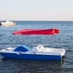 Walking catamaran on the water — Stock Photo #12185651