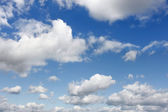 White clouds on blue sky — Stock Photo