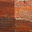 Restored medieval brick wall — Stock Photo