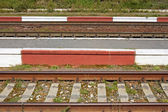 Railroad tracks close-up — Stock Photo