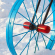 Stockfoto: Metal detail in form of bicycle wheel