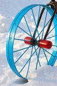 металлические детали в виде велосипедного колеса — Стоковое фото
