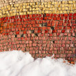 Old colorful mosaic outdoors in winter — Stock Photo