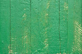 Green wooden fence — Stock Photo