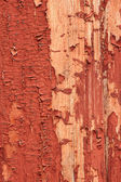 Wooden boards painted in red — Stock Photo
