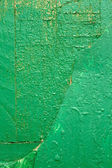 Wooden boards painted in green — Stock Photo