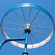 Stock Photo: Metal detail as bicycle wheel