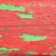 Wooden boards painted in red and green — Stock Photo #24426511