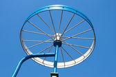Metal detail as a bicycle wheel — Stock Photo