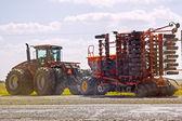Powerful modern tractor — Stock Photo
