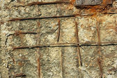 Rusty reinforced concrete structures — Stock Photo