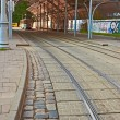 Tram station with a canopy  — Foto de Stock