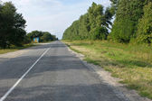 Rural road covered with asphalt — Stock Photo