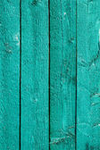 Green painted wooden fence — Stock Photo