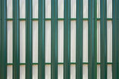 Back side of the metal fence — Stock Photo