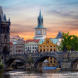 Tyn Church in Prague at sunset — Stock Photo #18992391