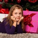 Happy kids with christmas present — Stock Photo #13982477