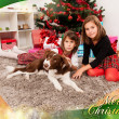 Kids with their christmas presents — Stock Photo #13981226