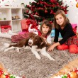 Kids with their christmas presents — Stock Photo #13981229