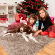 Happy kids with christmas present — Stock Photo #13981240