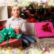 Kids with their christmas presents — Stock Photo #13982125