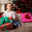 Happy kids with christmas present — Stock Photo #13982137