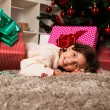 Happy kids with christmas present — Stock Photo #13982364