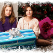 Kids with their christmas presents — Stock Photo #13982582