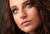 Young woman close up portrait — Stock Photo