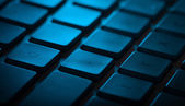 Keyboard close-up with copy space — Stock Photo
