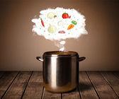 Sebze buhar bulutu — Stok fotoğraf