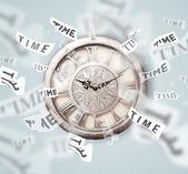 Concetto di orologeria con tempo volare via — Foto Stock