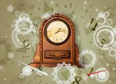 Vintage zegar z numerami na stronie — Zdjęcie stockowe