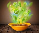 Piatto sano bio verde di cibo — Foto Stock