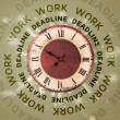 Clocks with work and deadline round writing — Lizenzfreies Foto