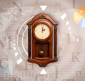 Clocks with world time and finance business concept — Stockfoto