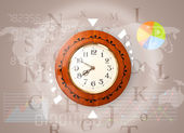 Clocks with world time and finance business concept — ストック写真