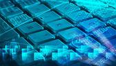 熱烈なプログラミング コード付きキーボード — ストック写真