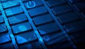 熱烈なチャートを使用したキーボード — ストック写真