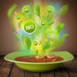 Healthy bio green plate of food — Stock Photo
