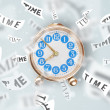 Clock and watch concept with time flying away — Stock Photo #39292837
