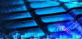 Klawiatura z świecące programowania kodów — Zdjęcie stockowe
