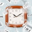Stock Photo: Clock and watch concept with time flying away