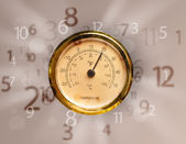 Vintage clock with numbers on the side — Stock Photo