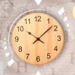 Stock Photo: Clocks with world time and finance business concept