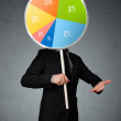 Businessman holding a pie chart — Stock Photo #41595295