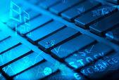 Klavye ile parlayan iş ikonları/simgeleri — Stok fotoğraf